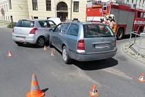 Nehoda u šumperského soudu.
