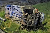 Nehoda fiatu v Hanušovicích