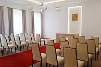 Nová obřadní síň v radnici ve Zlatých Horách.