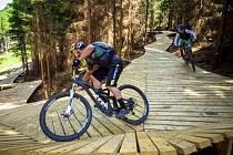 V Dolní Moravě otevírají nový trail pro milovníky jízdy volným terénem na horském kole.