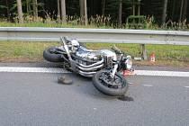 Smrtelná havárie motocyklu na Červenohorském sedle v neděli 22. září.