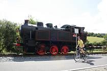 Největším lákadlem železničního skanzenu u Lupěného je historická parní lokomotiva řady 317 z roku 1950. Dostala se sem z Lysé nad Labem, kde předtím stála na piedestalu na tamním nádraží.
