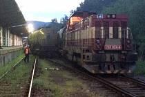 Nehoda vlaku u Bludova