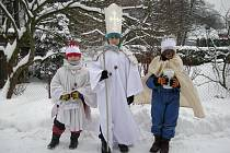 Koledníci Tříkrálové sbírky v Zábřehu