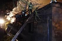 Rodinný dům hořel v Bludově.