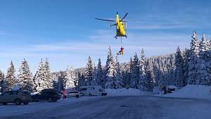 Záchrana skialpinistky ve Velkém kotli v Jeseníkách. 1. února 2021
