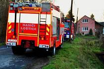 Hasiči zasahují u výbuchu kotle v rodinném domě v Lošticích