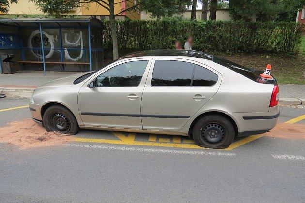 Nehoda v Lidické ulici v Šumperku