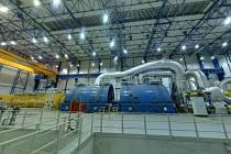 On-line prohlídka klasické elektrárny, turbína v elektrárně Ledvice