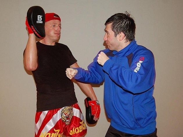 Hráči Sulka Zábřeh si vyzkoušeli trénink pod vedením trenéra thajského boxu, spinnig i posilovnu