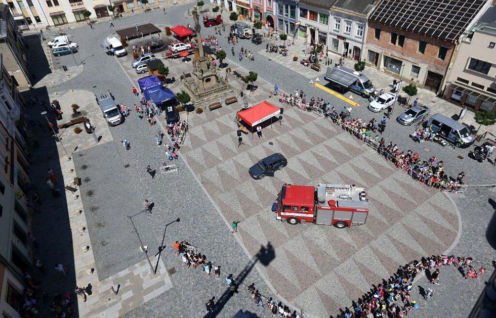 Den IZS na mohelnickém náměstí