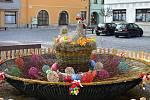Velikonoční dekorace v Mohelnici.