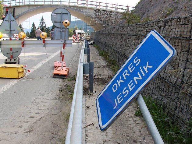 Rekonstrukce silnice na jižní straně Červenohorského sedla