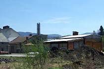 Areál bývalého Moravolenu v Jeseníku, kde chtělo minulé vedení radnice postavit centrální kotelnu na biomasu