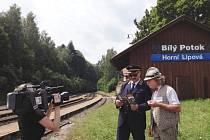 Štáb České televize navštívil železniční trať v Jeseníkách, kde sloužil komixový hrdina Alois Nebel.