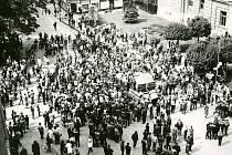 21. srpen 1968 a polská armáda  v ulicích Šumperka.