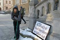 Šumperská demonstrace proti ACTA, sobota 11. února 2012