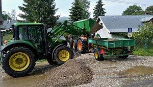Následky přívalového deště v Lipové-lázních