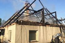 Požár rodinného domku ve Staré Červené Vodě
