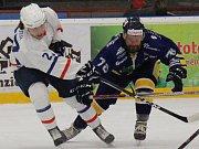 Šumperští Draci (v modrém) proti Novému Jičínu