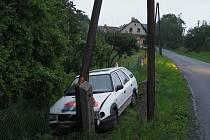 Opilý řidič havaroval v Maletíně.