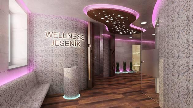 Budoucí podoba wellness v prostorách správní budovy jesenického koupaliště.