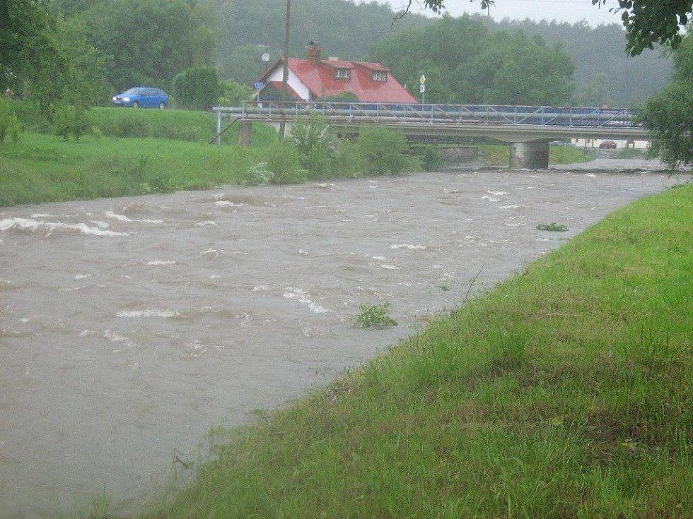 Řeka Bělá v Mikulovicích