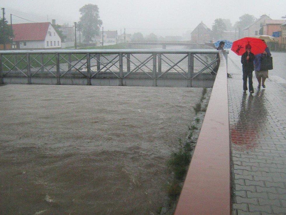 Řeka Bělá v Mikulovicích. Ilustrační foto