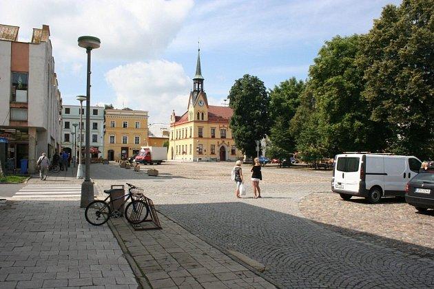 Náměstí ve Vidnavě – současný stav.