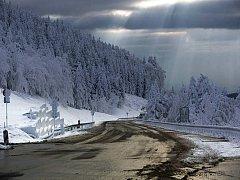 Silnice na Červenohorské sedlo je otevřená