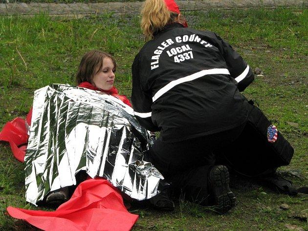 Americká záchranářka v akci na Rallye Rejvíz
