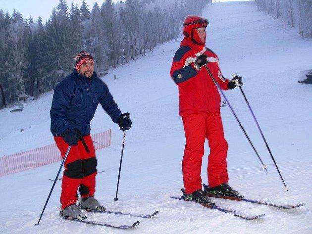 Ski areál Přemyslov v Jeseníkách.