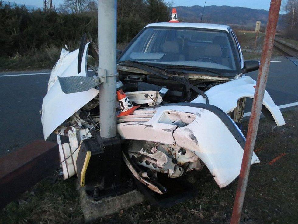 Nehoda na přejezdu ve Vikýřovicích