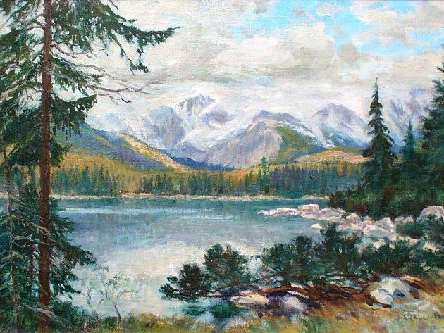 Tatry. Jeden z obrazů Huga Šilberského.