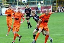 Sulko Zábřeh (oranžové dresy). Ilustrační foto