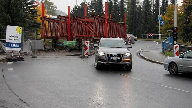 Rekonstrukce mostu v Bezručově ulici v Jeseníku