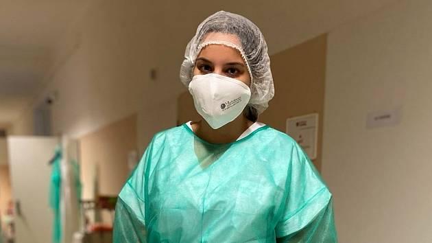 Petra Kimmerová na infekčním oddělení šumperské nemocnice.