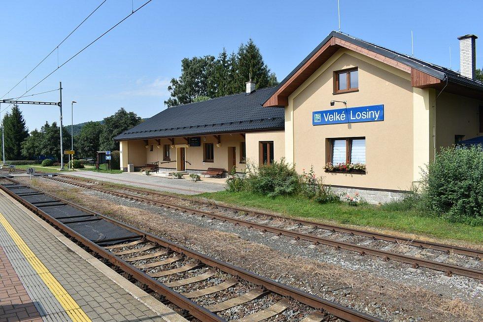 Velké Losiny - nádraží.