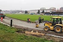 Rekonstrukce atletického oválu na zábřežském stadionu
