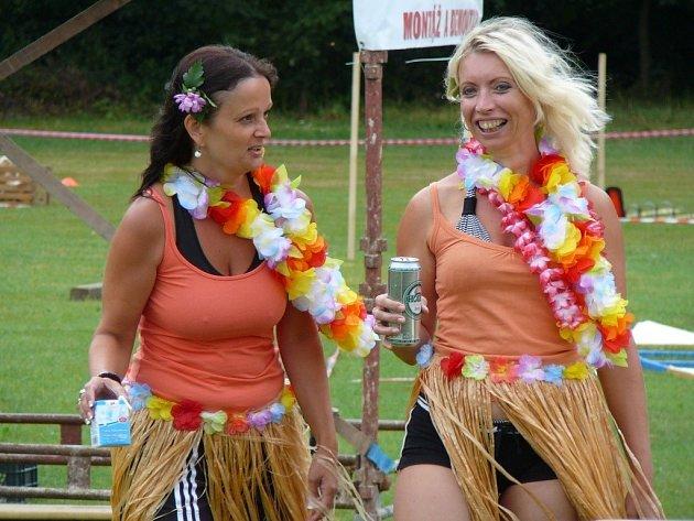 Rovensko v sobotu 10. srpna hostilo zábavnou soutěž Hry bez hranic.