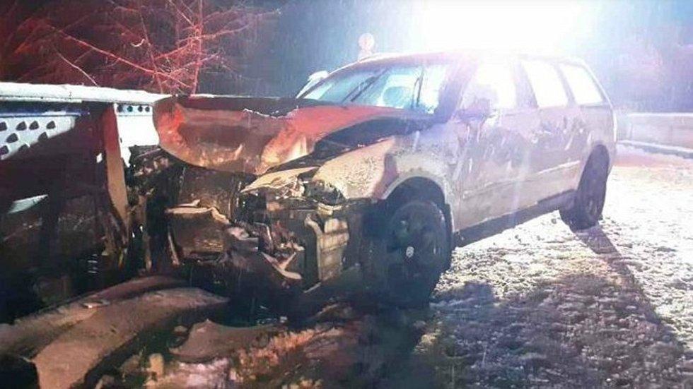 Nehoda mezi Zábřehem a Lesnicí v úterý 12. ledna.