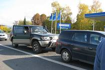 Nehoda v Jesenické ulici.