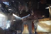 Požár stolárny v Šumperku.