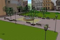Vizualizace budoucí podoby náměstí v Javorníku.