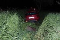 Havárie Škodovky mezi Velkými Losinami a Loučnou nad Desnou.