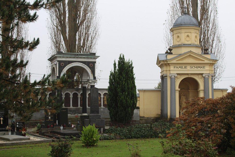 Hrobky rodin Seidlů a Schimke.