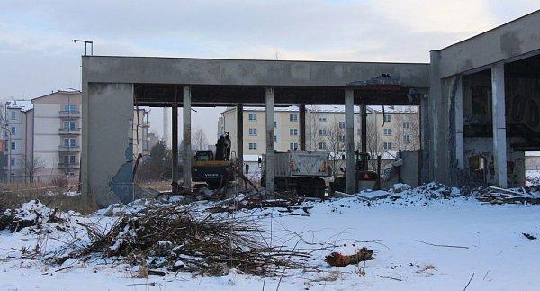 Bourání kotelny vTemenické ulici