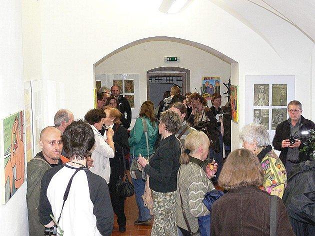 Z pátečního setkání v Galerii mladých v Šumperku