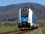 Elektrický vlak RegioPanter na trati mezi Šumperkem a Kouty nad Desnou
