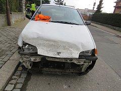 Nehoda v Bratrušovské ulici v Šumperku.